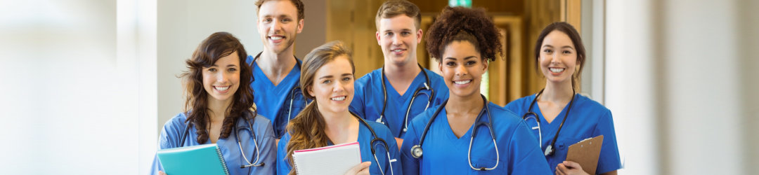 group of young nurses